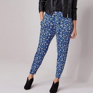 Capsule Floral Stretch Jersey Tapered Trousers 22
